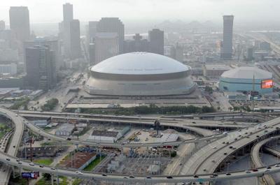 New Orleans aerial skyline