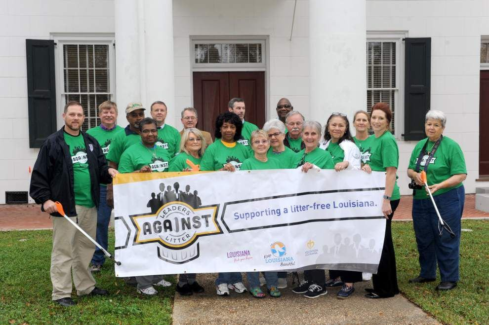 East Feliciana Parish leaders pitch in for statewide cleanup _lowres