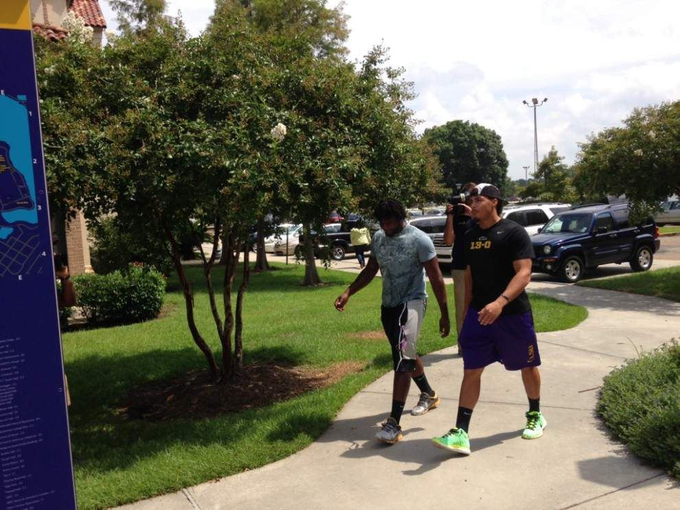 LSU football players report to fall camp _lowres