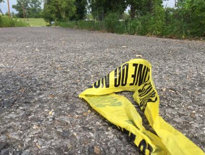 crime scene tape stock