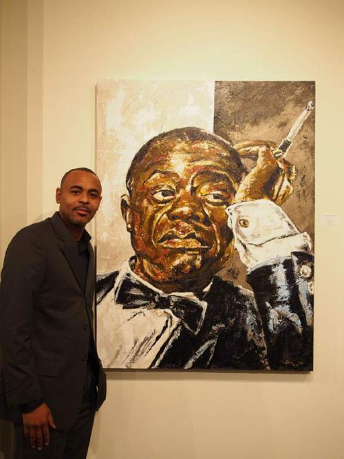 Baton Rouge artist known for lively paintings of musicians has died _lowres