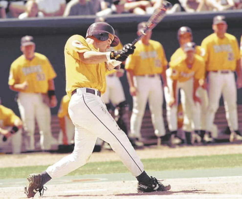 Robbie Morrison, who gave up Warren Morris' 1996 College World Series home run, to throw first pitch Sunday _lowres