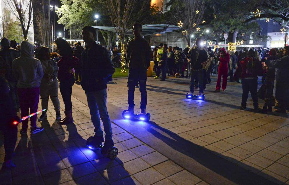 Popular, dangerous hoverboards temporarily banned on LSU campus until further notice _lowres