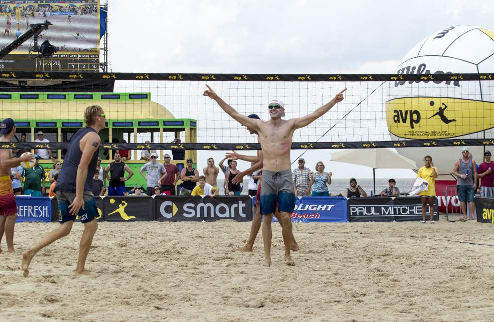 Jake Gibb, Casey Patterson sweep Phil Dalhausser and Sean Rosenthal in AVP New Orleans men's final _lowres