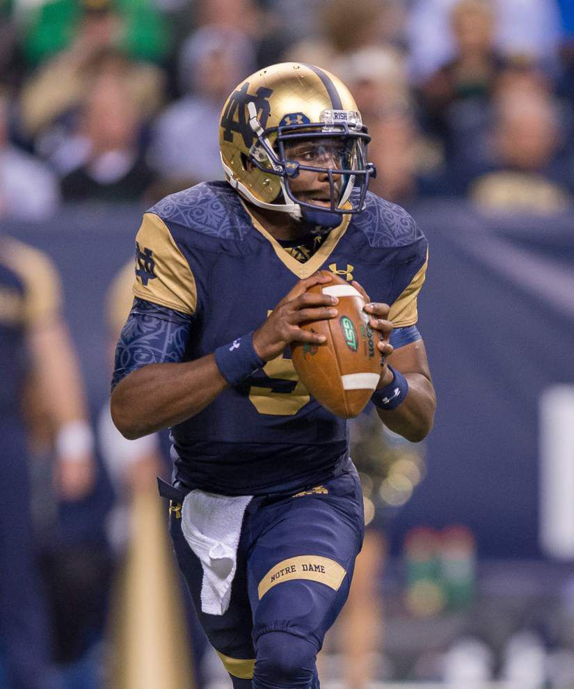 Notre Dame expects both quarterbacks to play against LSU _lowres