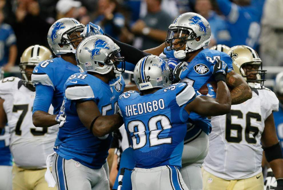 Saints suffer a Motor City meltdown in their 24-23 loss at Detroit _lowres