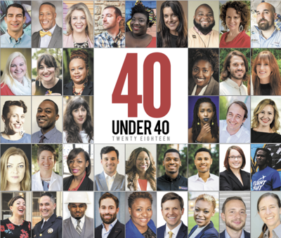40 Under 40 2018 cover