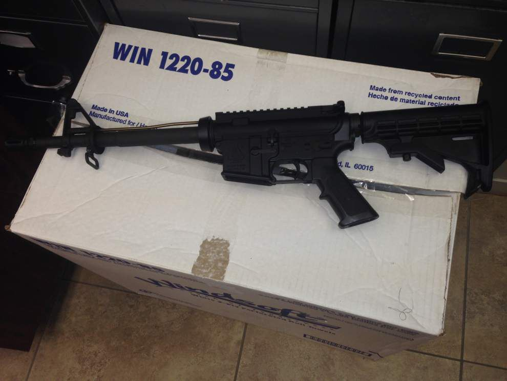 Missing semi-automatic rifle mysteriously dropped off at the home of Sorrento's police chief _lowres