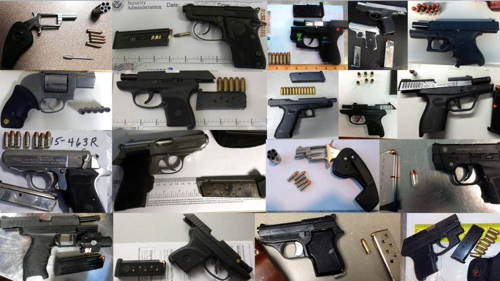 TSA seizes record number of guns in carry-on bags last week, including two at New Orleans airport _lowres