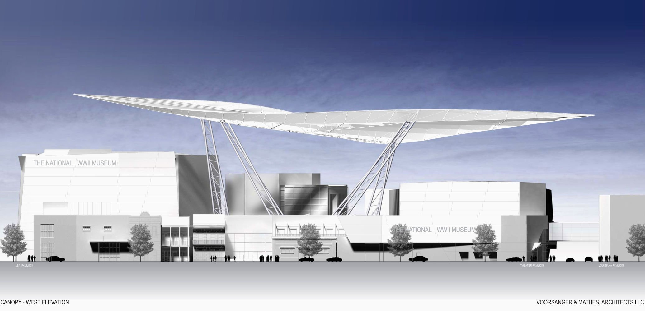 wwii museum s canopy of peace destined to become striking new rh theadvocate com