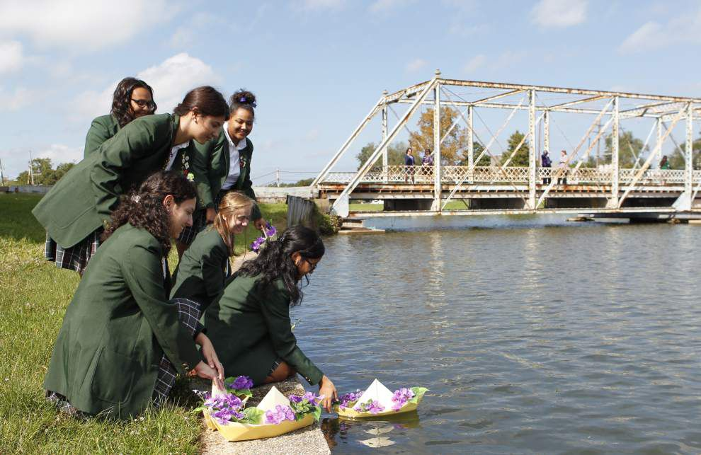 Cabrini High School students float 'missionary' boats on Bayou St. John _lowres