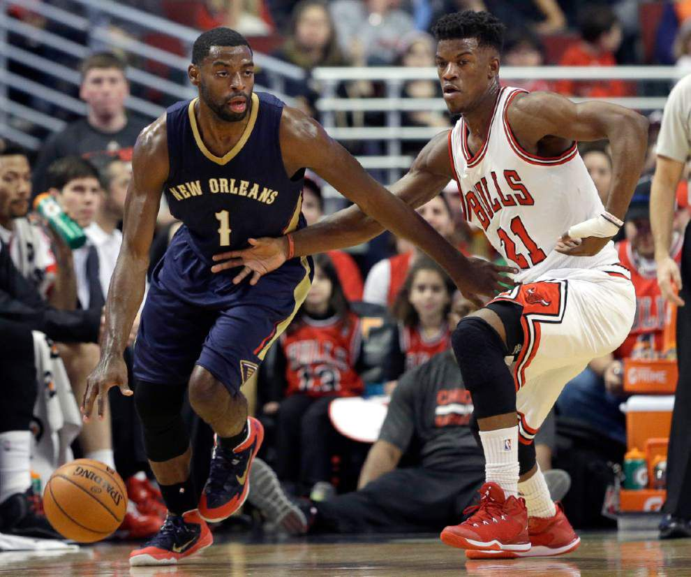 Bulls top Pelicans 107-100 in Anthony Davis' return to Chicago _lowres