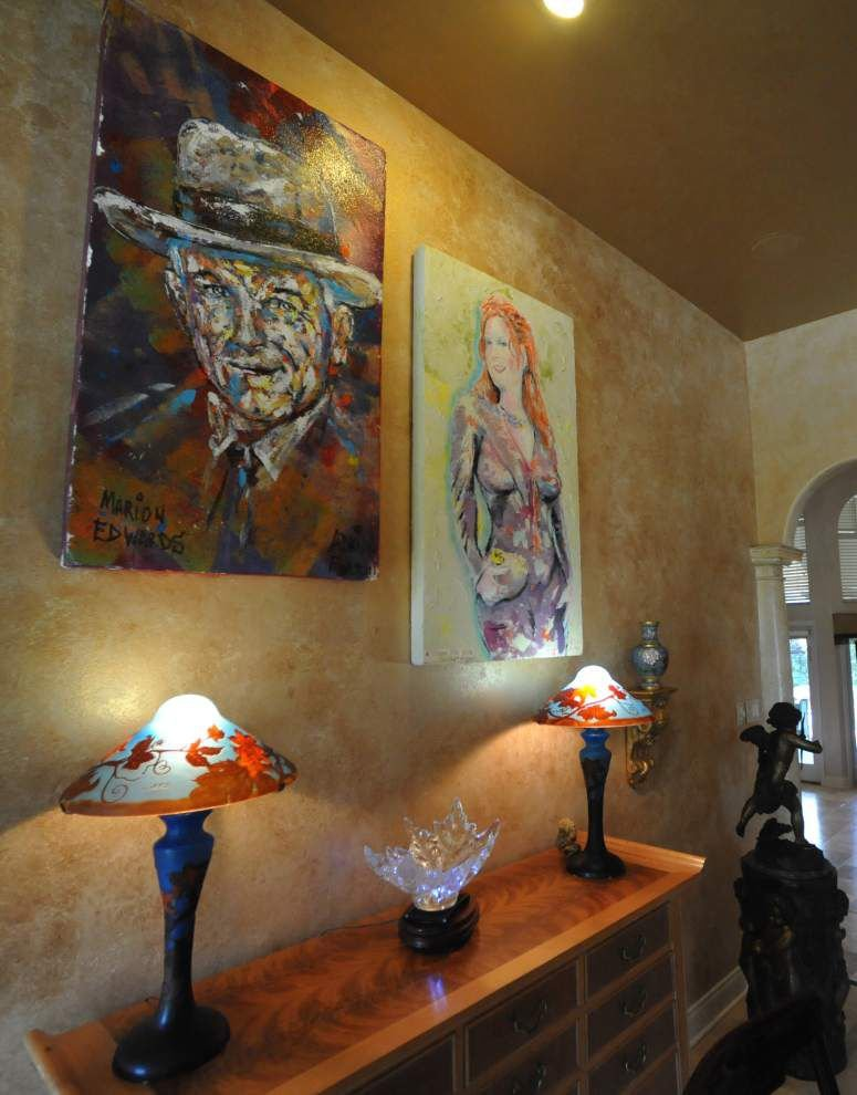 With marble fountain, silk rugs, George Rodrigue art, this Edwin Edwards relative's home style eclectic _lowres