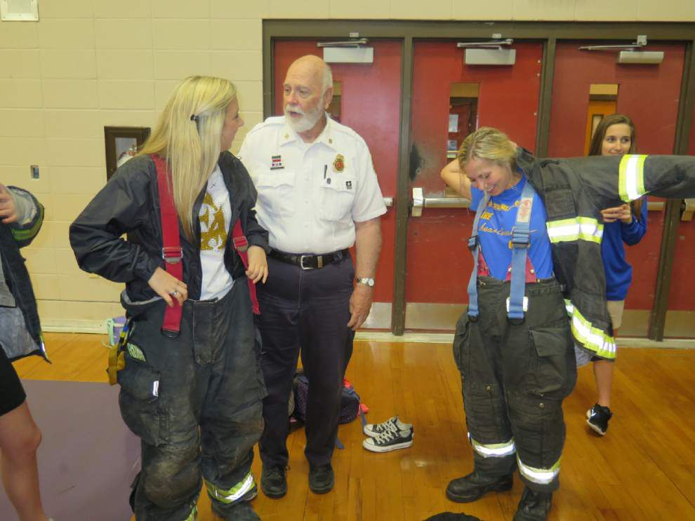 East Ascension High students learn about job opportunities at EMS Day _lowres