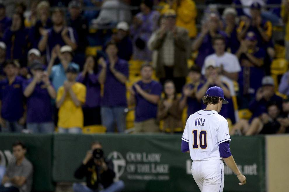 LSU notes: Plane problem forces delay; Nola 'anxious' to return _lowres