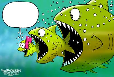 You can make up your OWN fish story in Walt Handelsman's latest Cartoon Caption Contest!
