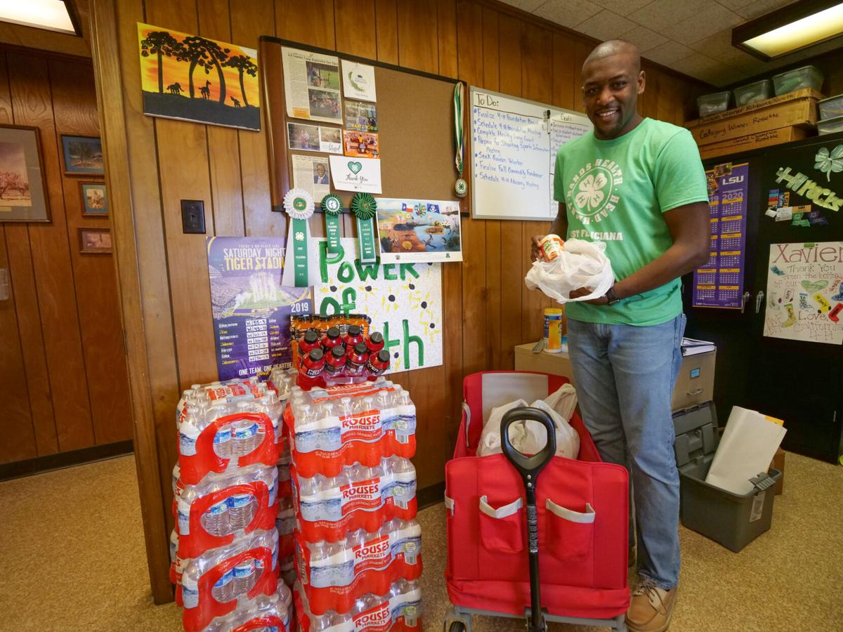East Feliciana 4-H collecting items for Cameron Parish001.JPG