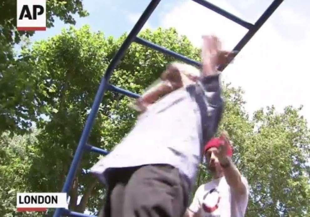 'Parkour' class teaches older folks new tricks _lowres
