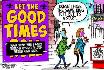Walt Handelsman: New Orleans cautiously moves to Phase-3