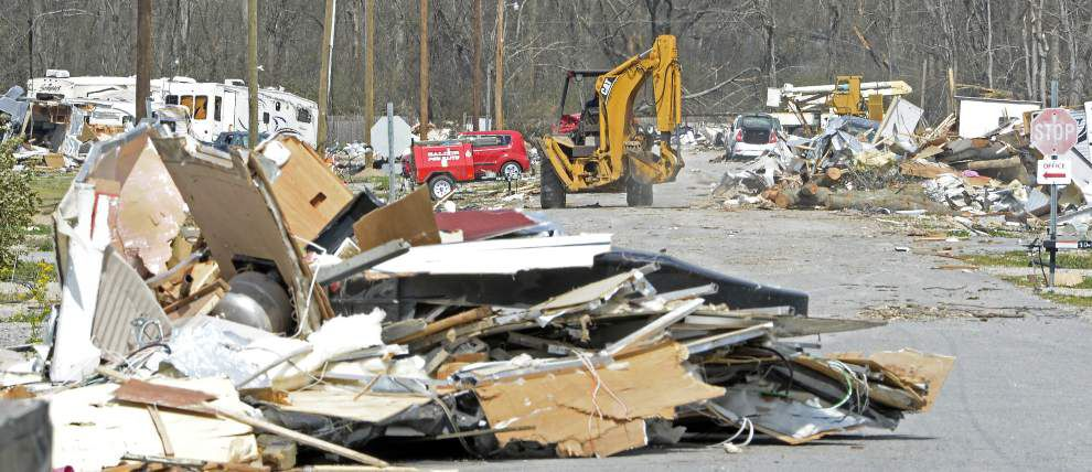 Video: Mere weeks after devastating tornado, neighbor-aided cleanup puts Convent RV park back in business _lowres