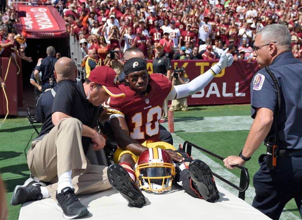 Redskins optimistic Robert Griffin III will return this year _lowres