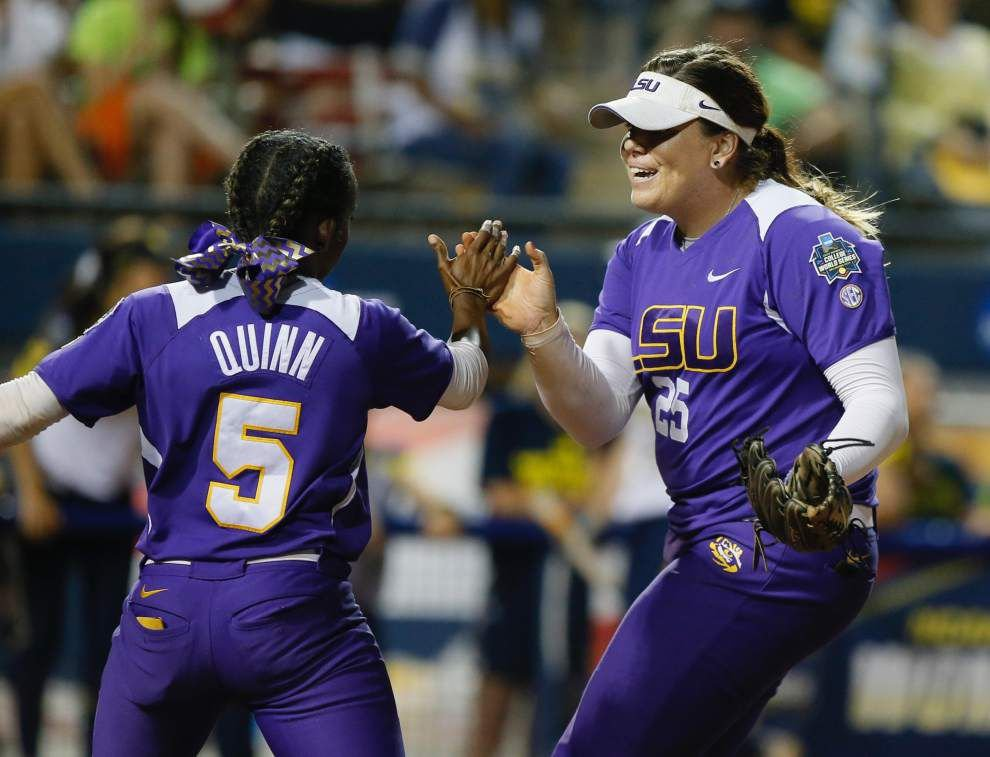 Michigan shuts out LSU in Women's College World Series opener _lowres