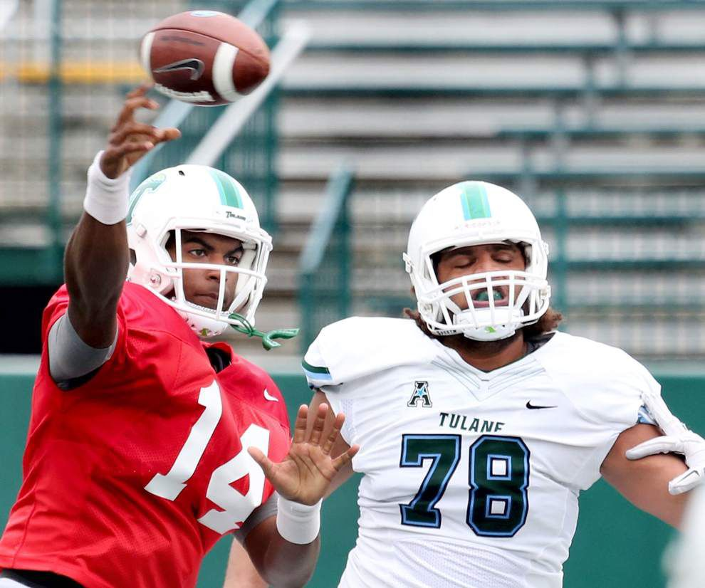 'We've got a long way to go': Tulane's ground attack shows promise, passing game struggles in spring game _lowres