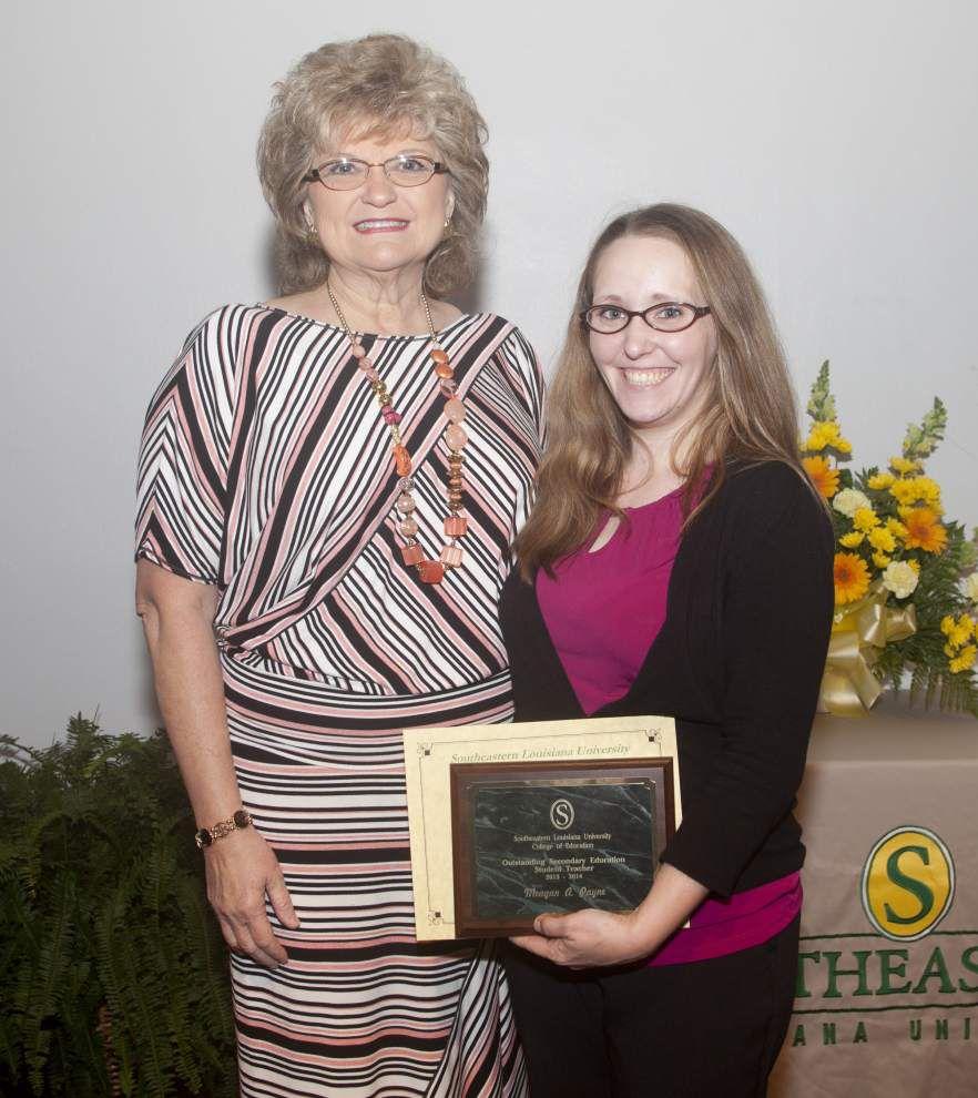 SLU student teachers, alumnus honored _lowres