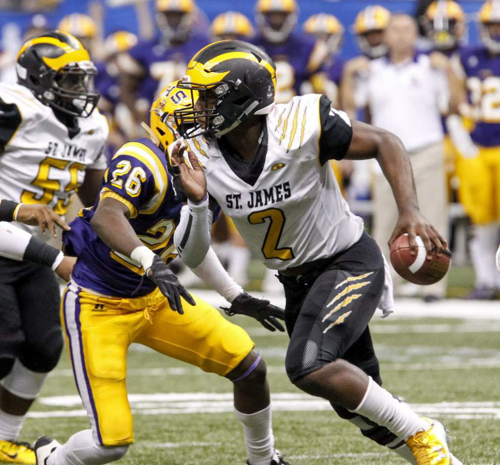 LSU gets commitment from St. James dual-threat QB Lowell Narcisse _lowres