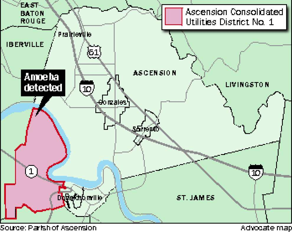 Ascension Parish officials begin task of cleaning water line that tested positive for brain-eating amoeba _lowres