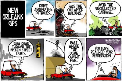 Walt Handelsman: New Orleans GPS