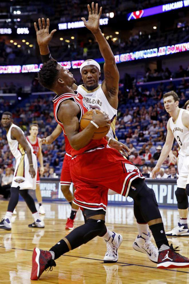 Battling to the end: Pelicans fall to Bulls 121-116 in home finale _lowres