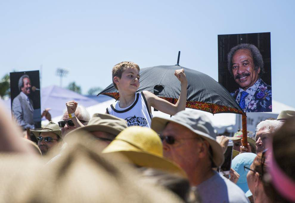 Toussaint honored with second-line, memorial at Fair Grounds _lowres