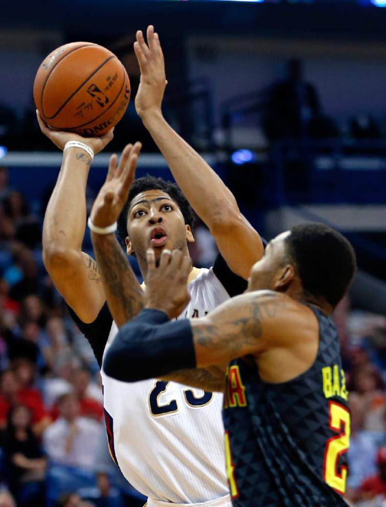 Anthony Davis' monster night can't keep Pelicans from losing 121-115 to Atlanta, dropping them to 0-5 _lowres