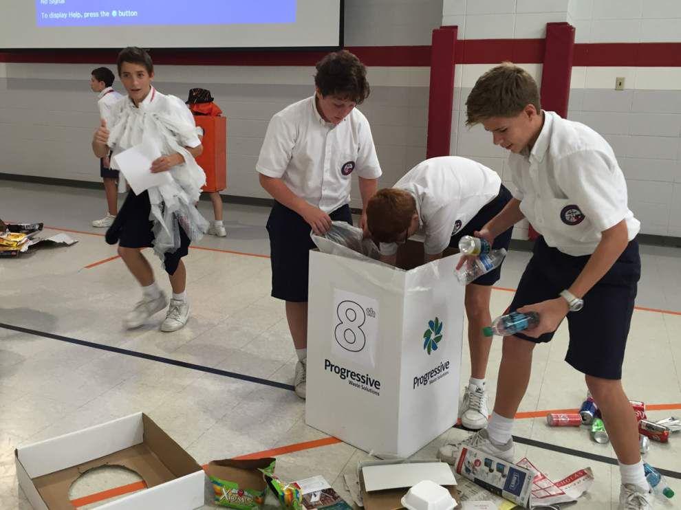 St. Theresa Middle Robotics Club participates in Lego League Qualifier _lowres