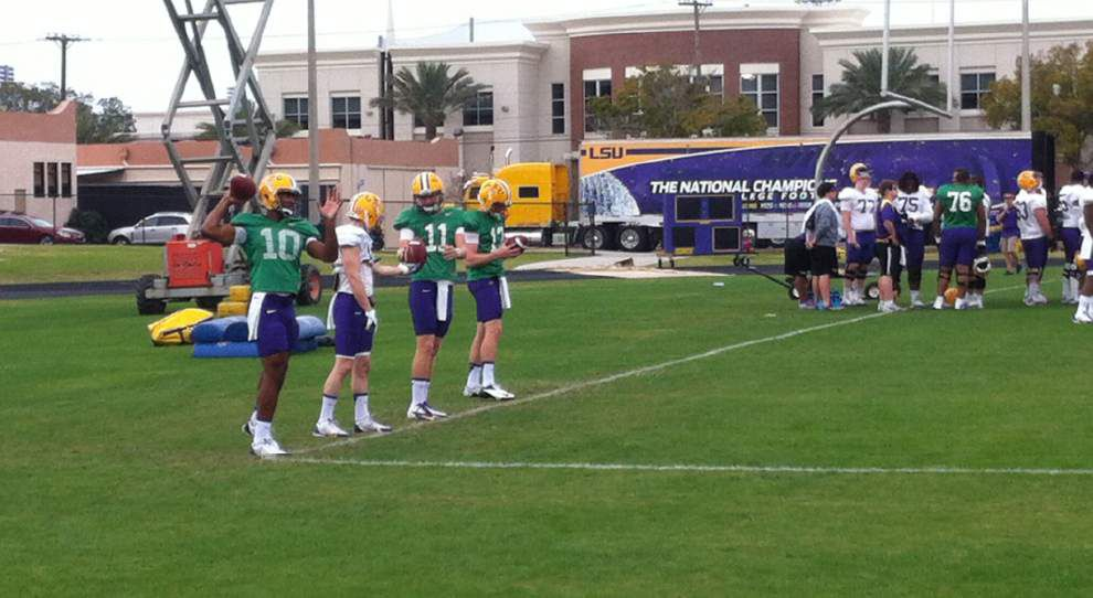 Video: The LSU football team doing drills at spring practice _lowres