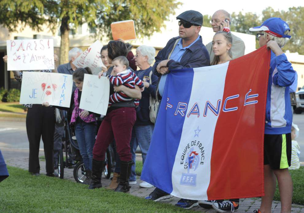 Photos: Lafayette residents gather to support Paris in wake of terrorist attacks _lowres