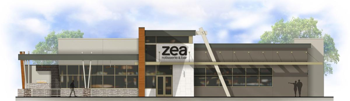 Zea Rotisserie & Bar rendering for Red