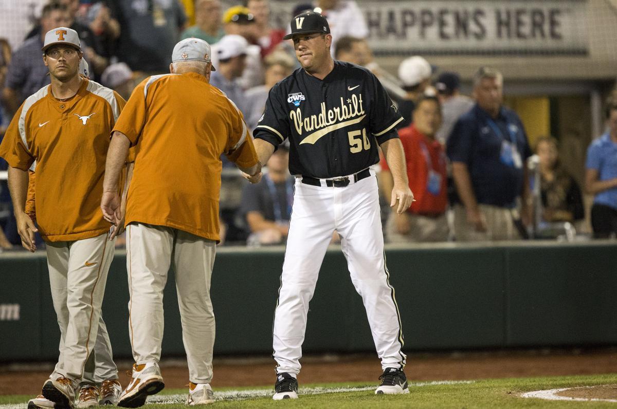 NCAA Baseball: Texas vs Vanderbilt Jun 21