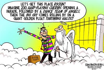 Walt Handelsman: RIP Blaine Kern... The King of Mardi Gras.