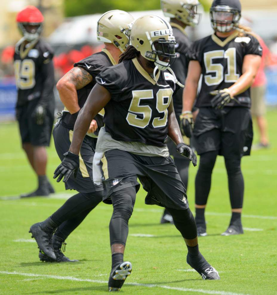 Saints linebacker Dannell Ellerbe hoping to leave IR behind and stay on the field _lowres