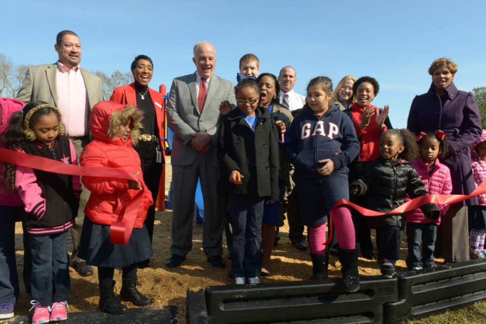 Capitol One leads effort to build Bernard Terrace playground _lowres