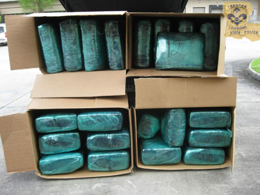 Louisiana State Police confiscate 400-plus pounds of marijuana during I-10 traffic stop _lowres