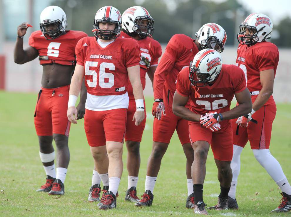 Ragin' Cajuns' Christian Sager, one of only a few from the Rickey Bustle era, holds steady with team _lowres