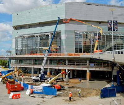 Smoothie King Center getting fresh paint as part of renovations _lowres