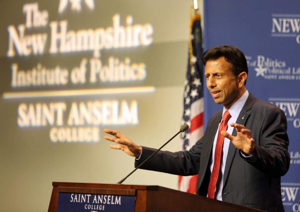 Stephanie Grace: No 'machine-gun bacon' or destroyed cellphones, but Bobby Jindal's publicity stunts are still stunts -- and they're not working _lowres