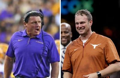 Ed Orgeron and Tom Herman