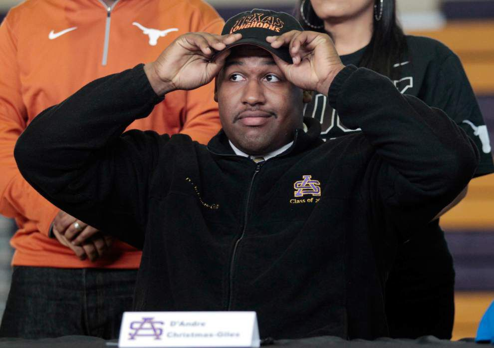 Ted Lewis: Texas hooked St. Augustine's D'Andre Christmas-Giles as part of a huge haul on signing day _lowres