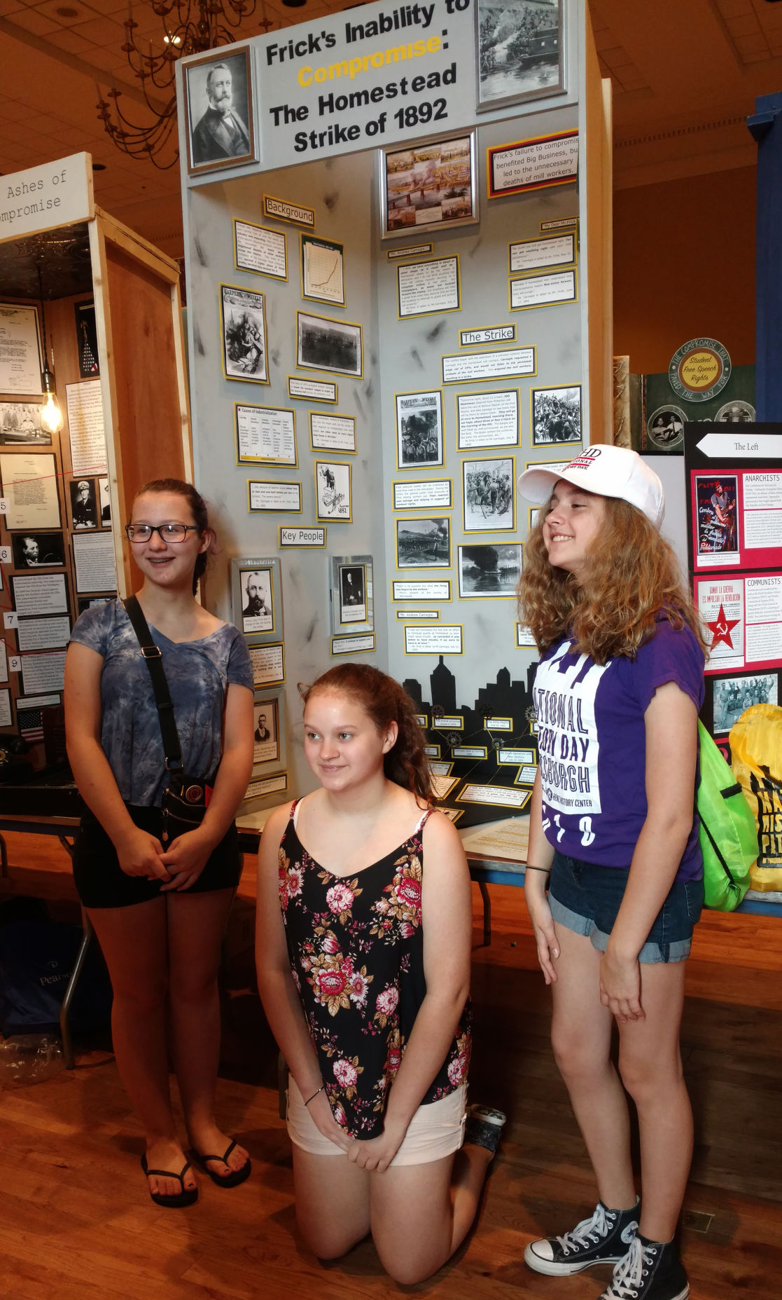 Students with National History Day project