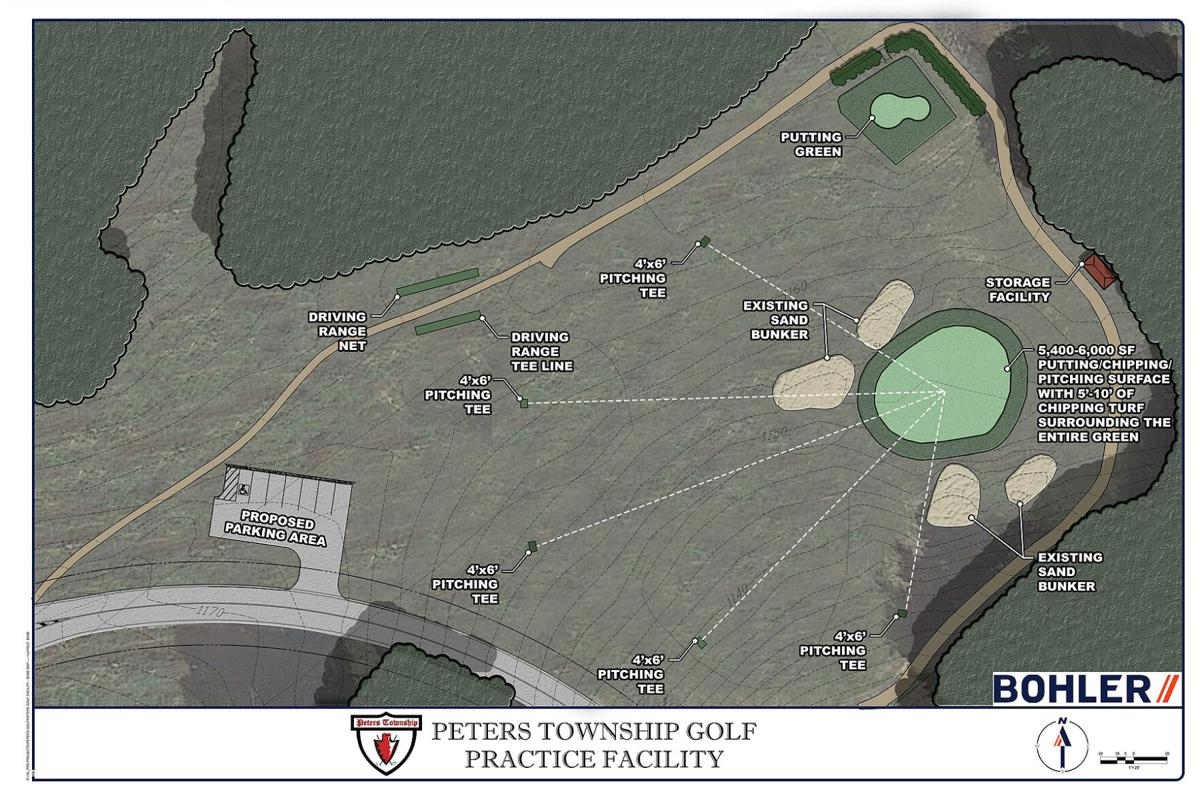 Peters Township golf practice facility